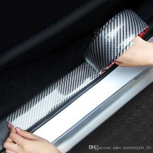 Yeni Araba Etiketler 5D Karbon Elyaf Kauçuk Şekillendirme Eşiği Koruyucu Ürünler İçin KIA Toyota BMW Audi Mazda Ford Hyundai Aksesuarları (Perakende)