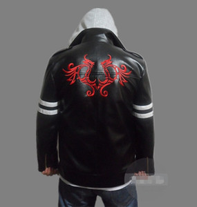 New Game Prototype Alex Mercer Cosplay Costume Embroidered Jacket PU Leather Coat Halloween Costumes for Women Men Custom Any Size
