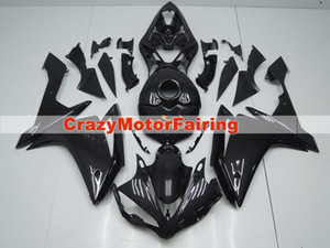 Nuovo ABS Injection Stampo Motorcycle Plastic Fairings Kit adatti per Yamaha YZF-R1-1000 2007-2008 07 08 Set di carrozzeria carenatura Black Cool Black