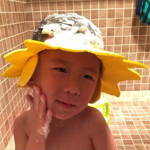Adjustable Baby Waterproof Shampoo Cap Kids Shower Bathing Protect Hat Cartoon Shield Children Cute Bath Cap Baby Care Supplies