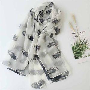 Женщины Летней мода шифон шарф тонкие шали в осенью и летом Женская шаль и Wrap Цветочного Printed SS-024