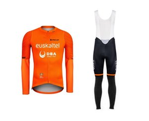 Spring Summer 2020 Euskaltel DBA PRO TEAM Men's Cycling Jersey Long Sleeve Bicycle Clothing With Bib PANTS Ropa Ciclismo