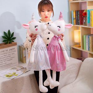 Principessa animali farciti giocattolo 35CM della bambola della peluche ripiene paillettes vestiti delle ragazze miglior regalo di compleanno per i bambini