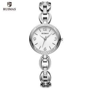2020 RUIMAS Luxury Quartz Watches Women Silver Bracelet Elegant Wristwatch Lady Woman Waterproof Watch relojes de lujo para mujeres 596