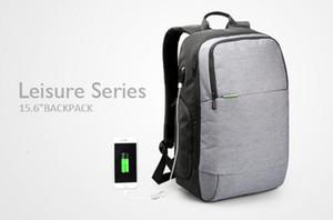 Wholesale-Kingsons Canvas brand Zaini esterni Carica USB Zaino per laptop antifurto Borsa Per Notebook 15,6 pollici per uomini D'affari