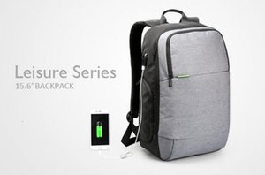 Al por mayor-Kingsons Canvas Brand Mochilas externas Usb Charge Laptop Mochila antirrobo Notebook Computer Bag 15.6 pulgadas para hombres de negocios