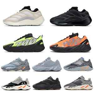 adidas stock x 카본 블루 700 wave runner Magnet Reflective Alvah Azael Inertia static solid gray Kanye West mens women running shoes 운동화 36-45
