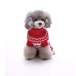 Cute Snow Flower Pattern Pet Sweater for Dogs Outdoor Wear