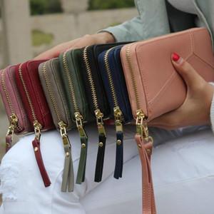 Designer-Fashion Irregular Patchwork Zipper Long Women Wallet Clutch Bag Coin Purse Billeteras Para Mujer PU Leather