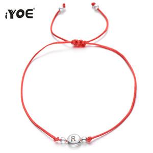 ewelry Accessoires IYOE style vintage 26 lettres de perles breloque pour les femmes enfants Chaîne Corde Lucky Red Initiales Nom de la chaîne Bacelet ...