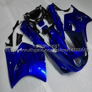 보울 스 + 선물 푸른 오토바이 카울 Kawasaki ZX11R 93-01 ZZR1100 1993 1994 1995 1996 1997 1998 1999 2000 2001 ABS 모터 페어링