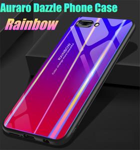 Mode Laser Dazzle Couleur En Verre Trempé TPU Hybird Coque Coque Dur Pour iPhone 6S / 7/8 / X / XR / XS Max