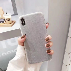 Plush Mobile Phone Case for iPhone 11 Pro ProMax for Samsung Huawei Artificial Wool TPU Cell Phone Case for X876