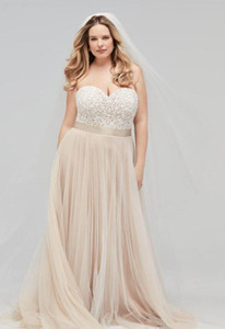 2019 Champagne Bohemian Wedding Dress sweetheart Vintage Lace Appliqued Beach Boho tulle Bridal Gown Plus Size Wedding Gown Custom Made