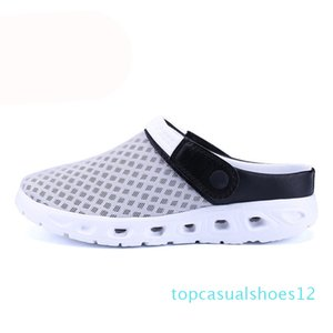 Men Summer Sandals Breathable Mesh Sandal Summer Beach Mens Shoes Water Man Slippers Fashion Slides Cheap Shoes t12