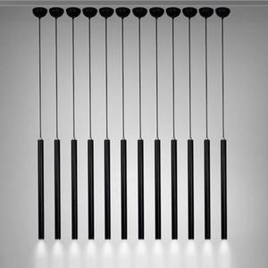 Luces pendientes Lámpara moderna Cocina Comedor Sala de 3cm Barra tienda de pipas colgante abajo se enciende la cocina del punto de luz de aluminio