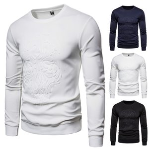 spring new Men Cotton T Shirt Long Sleeve Solid Color tops O-Neck Long T-shirt