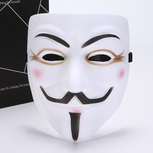 50шт 2020 Новый V Маска Vendetta Белый Желтый Маска Гая Фокса Anonymous Fancy взрослого костюма Хэллоуина маски маскарад V