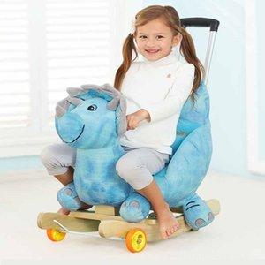 Bebek Arabası Peluş At Kaya Sandalye Bouncer bebek Salıncak Koltuk Açık Kız Bisikletler Ride-Ons Spor Outdoor Tampon Kid Ride On Oyuncak Kaya oyna