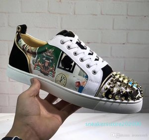 New Luxury Designer Sneakers Men Women Casual Shoes Party Dress High-cut Studded Spikes Platforms Red Bottom Trainers Shoes Sneaker 06s