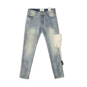 dongguan_ss en stock táctico de bolsillo Vaqueros ajustados Distressing Vintage Washed Jeans motorista Streetwear