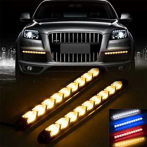 Auto LED DRL segnale di girata della luce diurna impermeabile Esecuzione tubo di flusso di striscia flessibile di illuminazione del lampeggiatore che scorre Warnning lampada 4 colori
