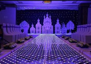 Specchio piano 60 * 60 cm Shine LED Flash Specchio tappeto Corridoio Corridore Bar Club Matrimonio T Stazione Decorazione di scena Puntelli Nuovo arrivo EEA481