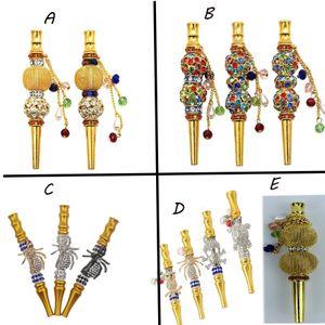 Fumeurs coloré strass perles Porte-cigarette en alliage Hookah bouche diamant arabe Shisha Narguile Filtre narguilé Accessoires Conseils