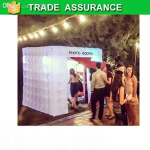 Freies Verschiffen hohe Qualität Beleuchtung aufblasbare Kabine Photo booth Requisiten