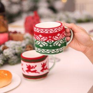 Yeni Noel Dekor Için Örme Yün Fincan Kapak Tozluk Cam Bardak Seramik Ev Için Noel Süslemeleri