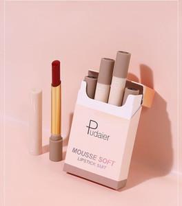 Pudaier matte lipstick set makeup small smoke tube cigarette lipstick Matte batom soft Moisturize not dry maquiagem 60sets lot DHL