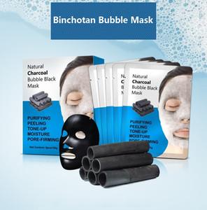 탄산 거품 얼굴 마스크 Binchotan 버블 시트 마스크 모이스처 라이징 부드러운 피부 관리 한국어 페이셜 마스크 화장품