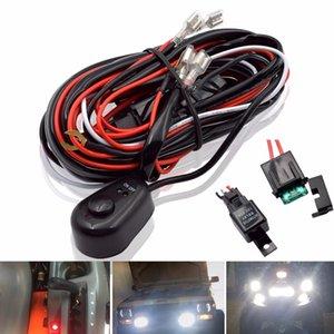 자동차 LED 라이트 바 와이어 2.5M 12V 24V 40A 배선 자동 운전 오프로드 주도 작동 램프 하네스 릴레이 베틀 케이블 키트 퓨즈