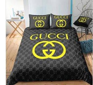 randed Baumwolle Bettwäsche-Sets Brief drucken Quilt Geschenk Schlafzimmer Cotton Heimtextilien Bettwäsche-Sets Bettbezug Bettwäsche Pillowcase
