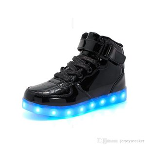 2020 New shoes for kids Illuminated shoes pink yellow white blue fashion comfortable size 26-33 free shipping