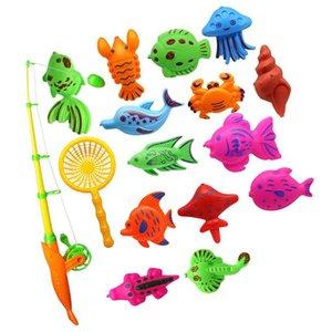new arrival kids toy fishing fish model magnetic bathtub set gift for baby children - 15pcs body shapewear