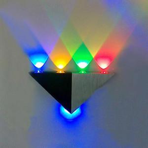 llight lâmpada Lâmpadas de parede NEW 5W LED Triângulo Sconces Espelho Backlight decorativa holofotes LED Corredor lâmpada fundo sala de bar KTV levou