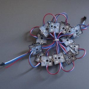 DC12V 3LEDS 20PCS / سلسلة 5050 ضوء مصلحة الارصاد الجوية بقيادة وحدة WS2811 RGB بكسل، 35X35mm مربع شكل حالة الحديد، الصور الرقمية الكاملة مصباح اللون، وماء IP67
