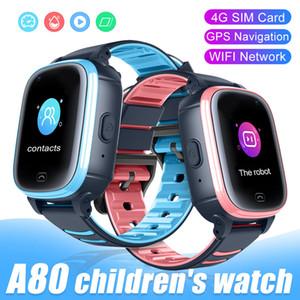 A80 Дети Смарт Часы GPS WiFi SOS Видеозвонок IP67 Водонепроницаемая камера 4G SIM Дети SmartWatch Baby Safe Tracker
