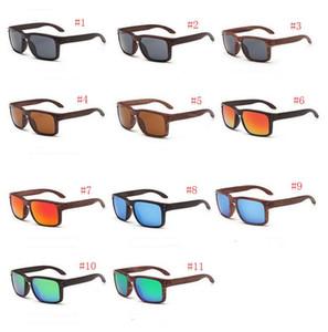 0709 Designer Sonnenbrillen heißer Verkauf Holzmaserung Sonnenbrillen Sport Sonnenbrillen Holz Sonnenbrillen Sport im Freien Radfahren Gläser qutily A +++ MOQ 20pcs