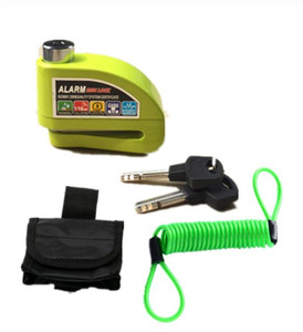 Livraison gratuite serrure alarme moto étanche sécurité antivols moto antivol disque blocage de frein + sac + corde de rappel