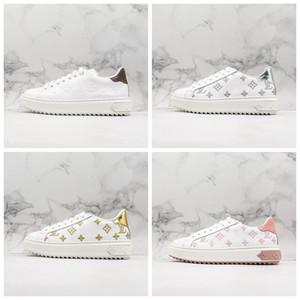 Louis Vuitton 20FW Time Out Sneakers Low Cut rhyton Ace Plattform Damen Designer-Schuhe für Frauen-Sport-Leder Casual Luxury Sneaker Turnschuhe Größe 35-40
