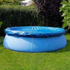 Büyük Beden Yüzme Havuzu Kapak Bezi Parantez Havuz Kapak Şişme Yüzme Toz Bezi Yuvarlak PE İçin Açık Bahçe