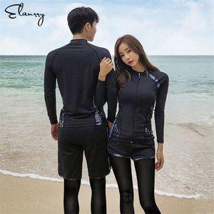 Sport Rash Guards Männer Frauen 5 Stück Langarm-Shirt, Shorts, Hosen Paare Swimwear Surfing Badeanzüge Rashguard Wetsuits