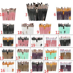 20 stücke marke Make-Up Pinsel Professionelle Kosmetik Pinsel set Mit natur Kontur Pulver Kosmetik Pinsel Make-Up