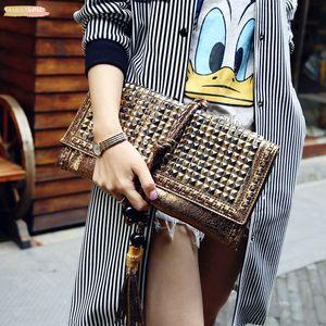 Brands Women Leather Handbags Designer Envelope Clutch Bag Evening Shoulder Bags Tassel Bags Hand Bags Purses
