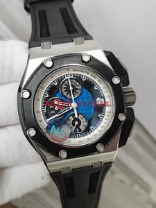 N8 Fabrik Luxus beste Verkaufs Qualität Herren-Uhr 44mm 26078RO schwarze Lederbänder VK Quartz Chronograph Working Mens-Uhr-Uhren