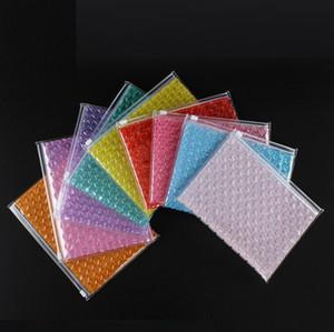 Bolso de burbuja de amortiguación de la cremallera de PVC sellado de bolsas inflables de espuma Cosméticos Bolsas de almacenamiento de embalaje de regalo Bolsas de Correo bolsa de plástico Bolsas personalizable
