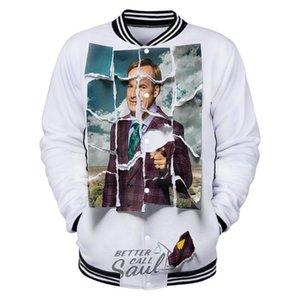 Better Call Saul 3D Bedruckt Custom Baseball Jacken Männer / Frauen Langarm-Jacke 2020 neue Harajuku Lässige Kleidung Street