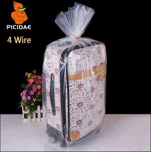 4 fios 40x60 cm PE embalagem Fosco saco De Armazenamento de plástico Transparente bolso Aberto plana à prova de poeira colcha de brinquedo boneca congelada cosméticos forro